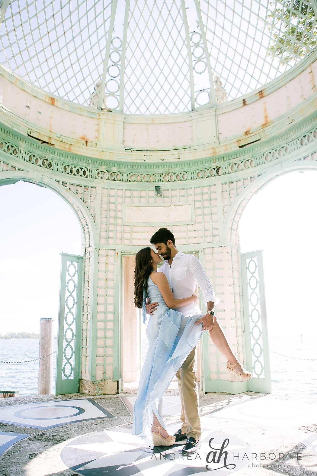 Romantic Couples Photoshoot Vizcaya Miami Andrea