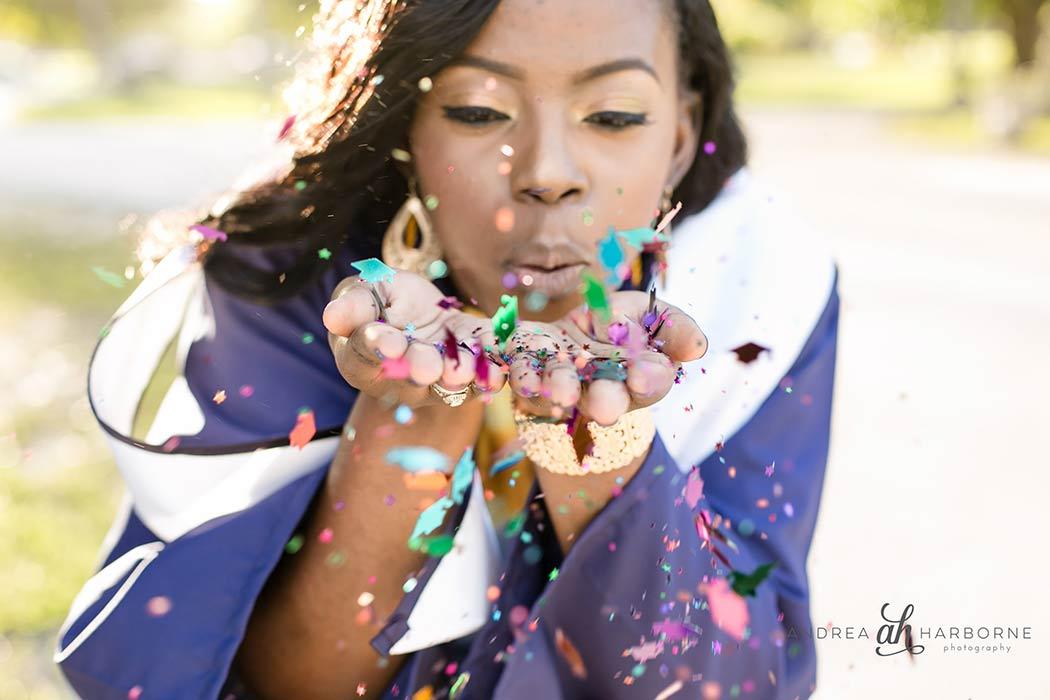 graduation photoshoot at crandon beach park