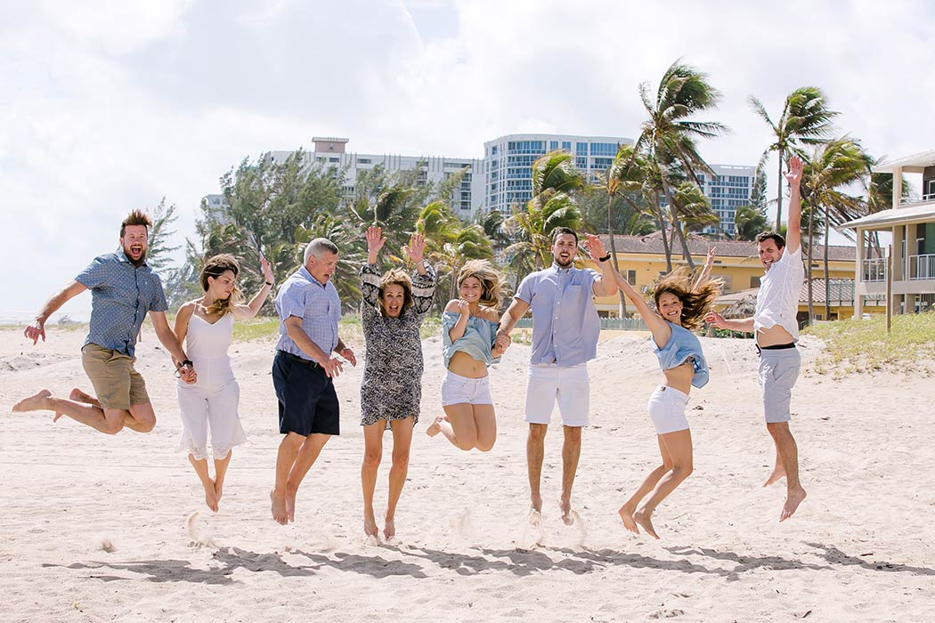 Jumping Pose For Large Family Photoshoot