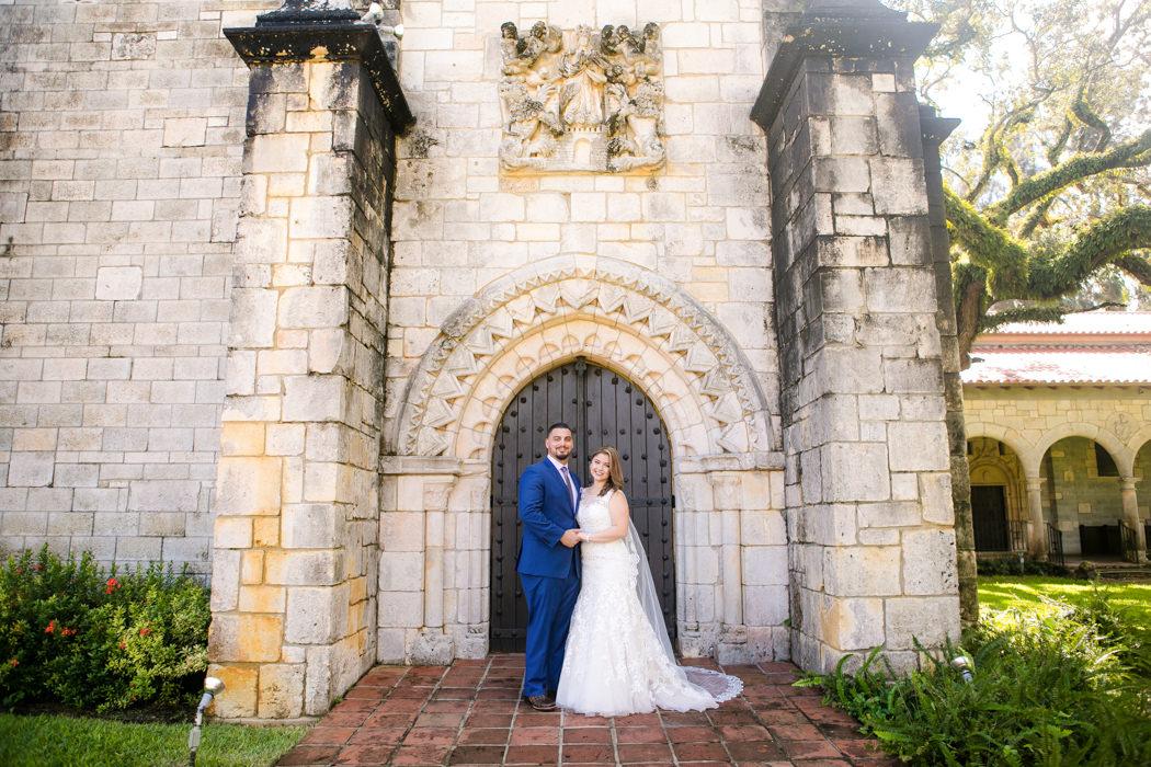 ancient spanish monastery wedding photography