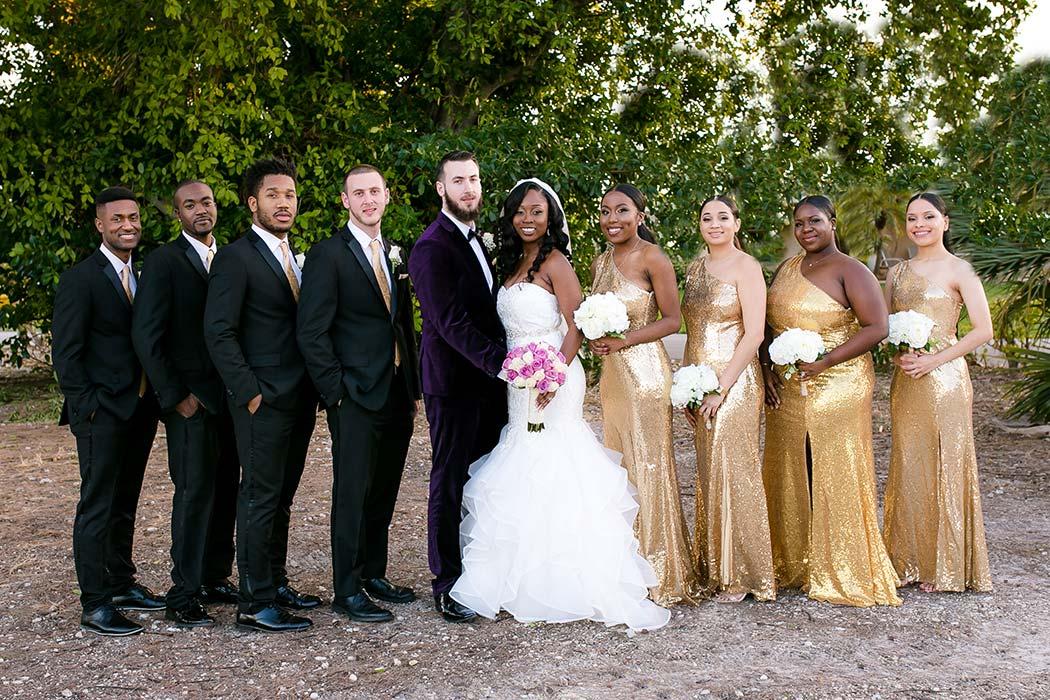 Bridal Party Outside The Royal Fiesta Deerfield Beach Wedding