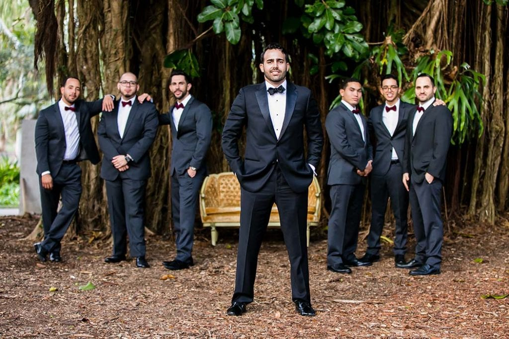 groomsmen at wedding