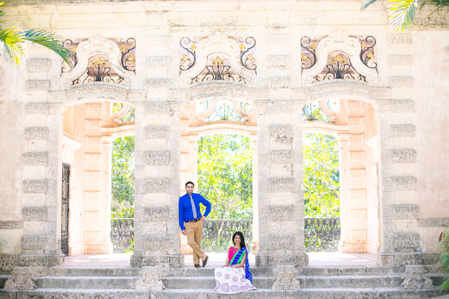 indian engagement photography at vizcaya museum miami | indian wedding photographer fort lauderdale south florida