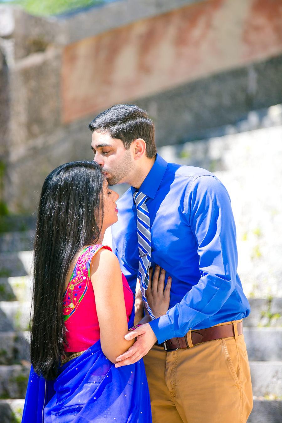 modern indian engagement photsoshoot at vizcaya museum and gardens, miami