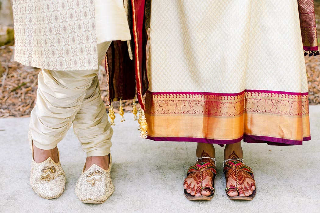 indian bride and groom pose for unique wedding images at bahia mar fort lauderdale