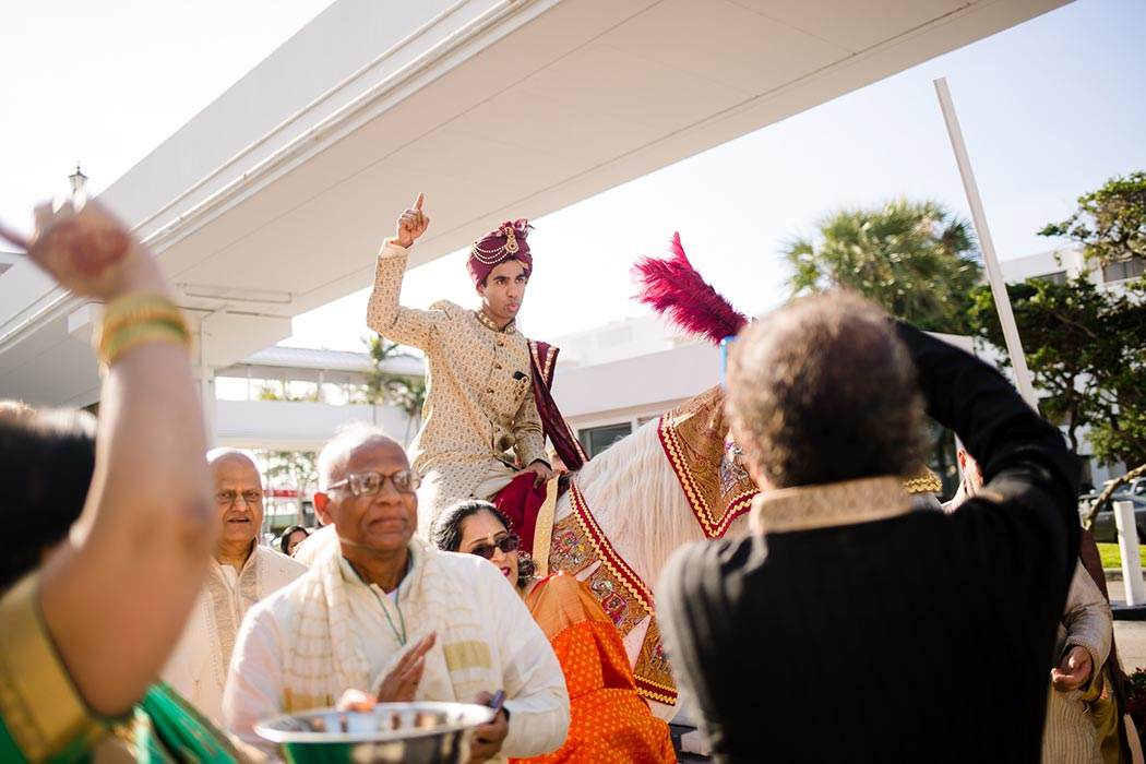 south florida indian wedding baraat celebrations at bahia mar fort lauderdale