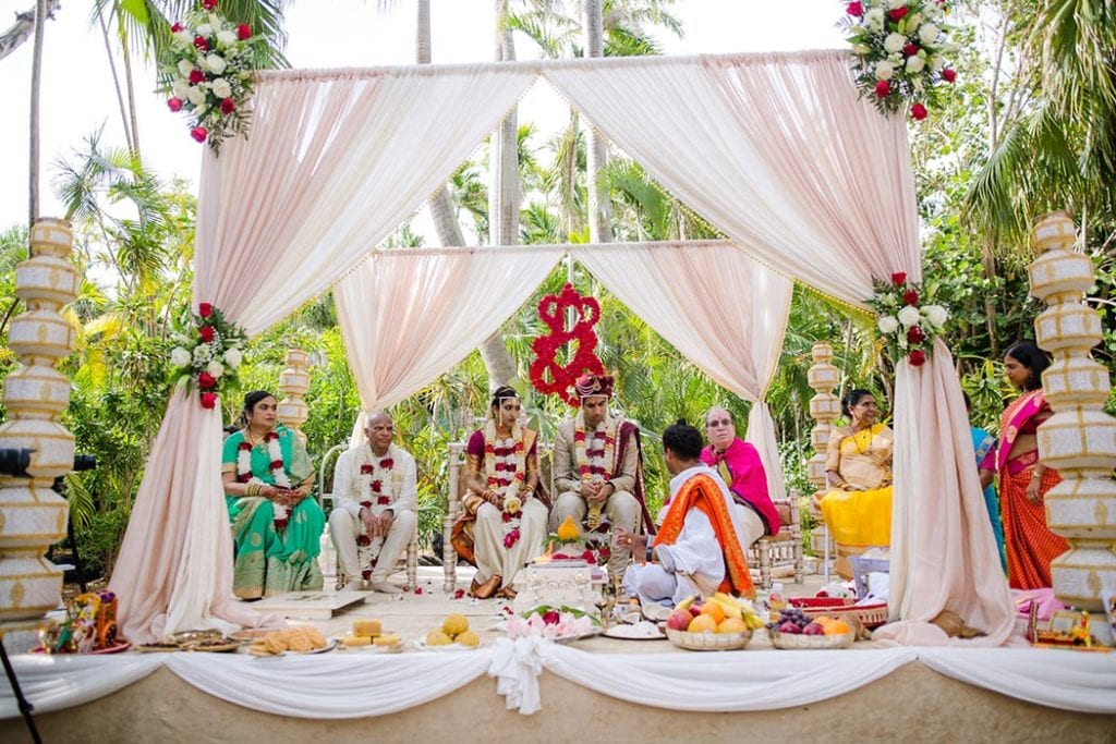 indian wedding ceremony at bahia mar fort lauderdale