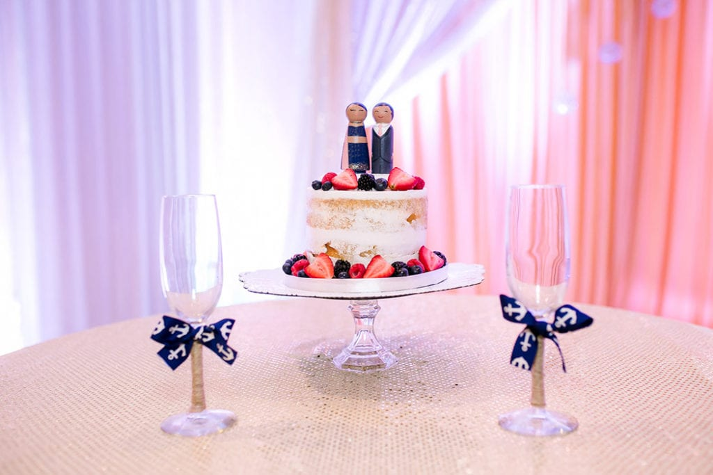 modern indian wedding cake on stand