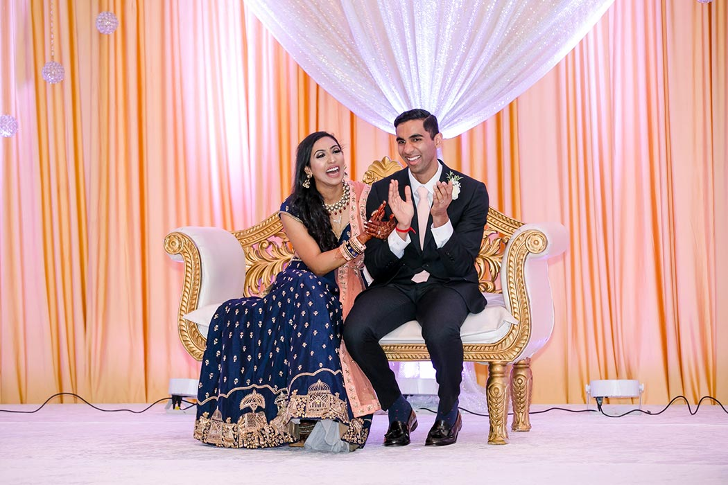 modern indian wedding decor at bahia mar fort lauderdale | south florida indian wedding photographer