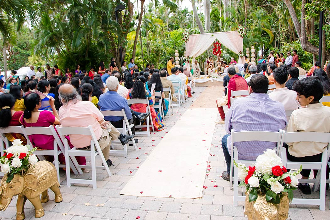 modern indian wedding ceremony at bahia mar fort lauderdale