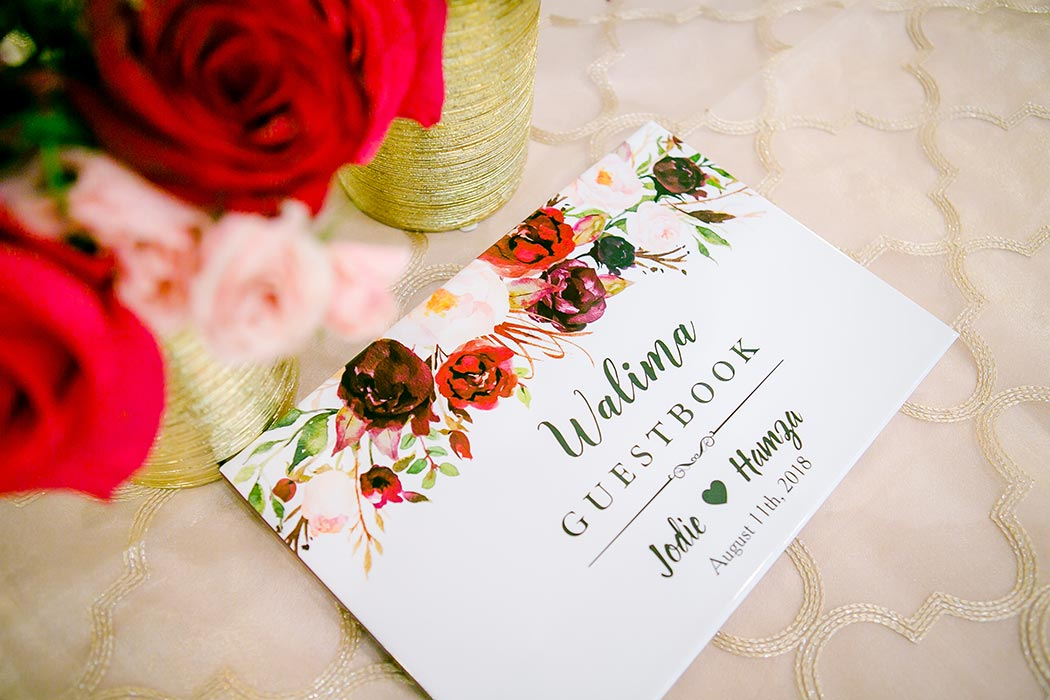 gorgeous wedding guest book photograph