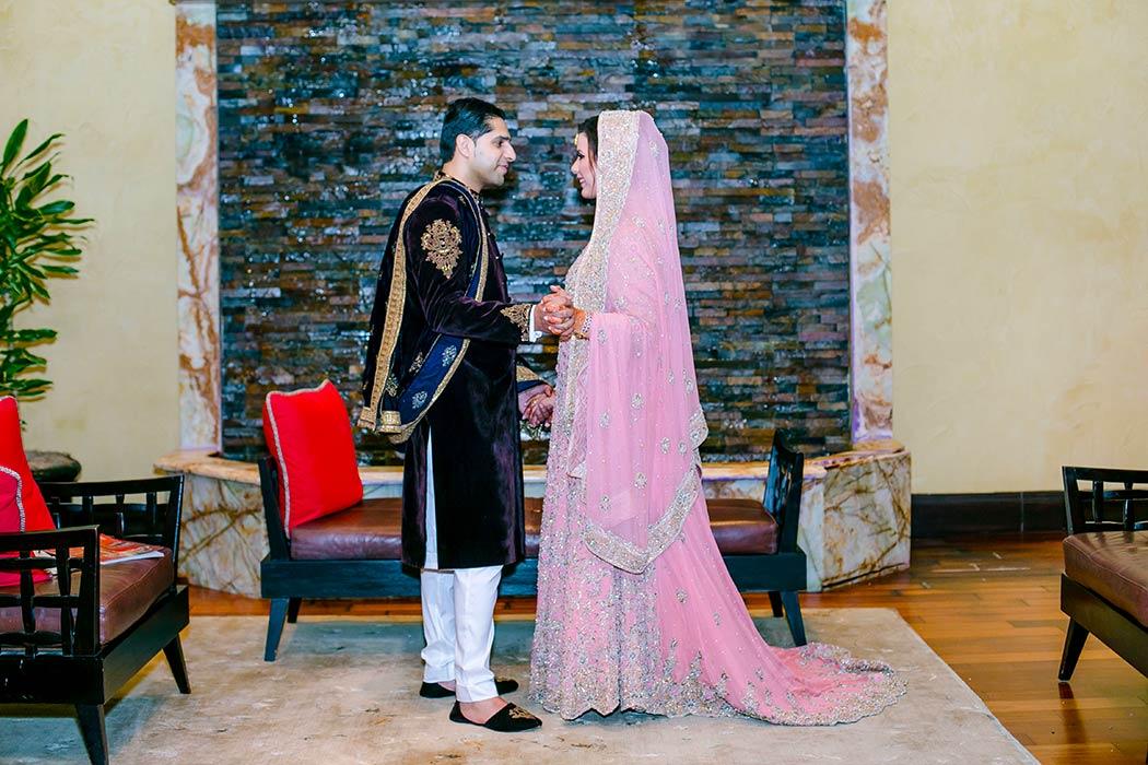 indian bride and groom wedding portrait fort lauderdale