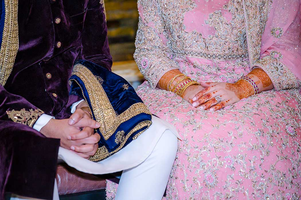 bride and groom traditional indian wedding dress in fort lauderdale south florida