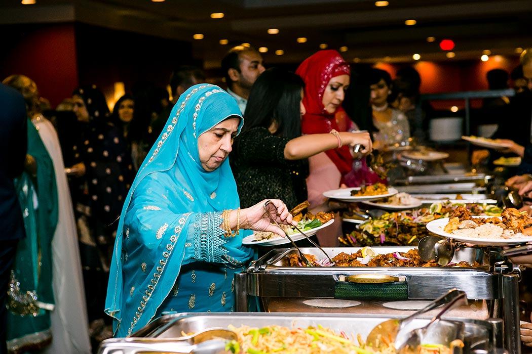 muslim indian wedding reception food | bonaventure resort and spa wedding