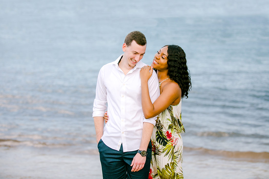 engagement photography in the water | south florida photographer