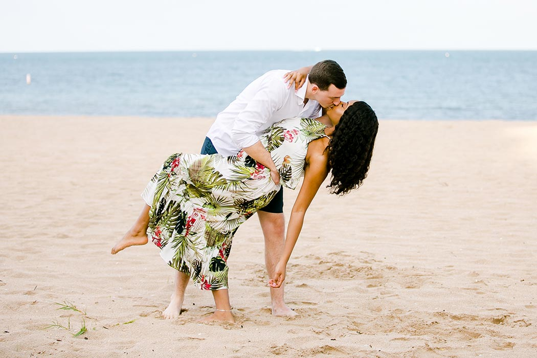posing ideas for beach engagement session | engagement photographer fort lauderdale south florida